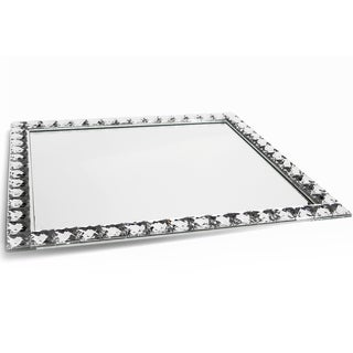Mirrored Glass Vanity Tray (16 x 14 inches)