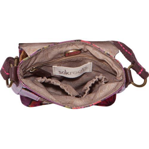 Women's Sakroots Artist Circle Small Flap Messenger Berry True Love - Thumbnail 1