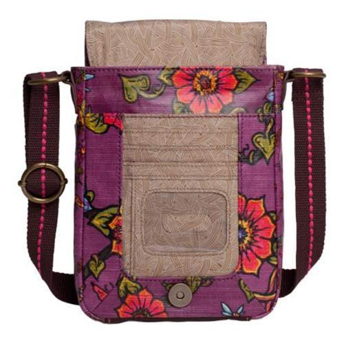 Women's Sakroots Artist Circle Small Flap Messenger Berry True Love - Thumbnail 2