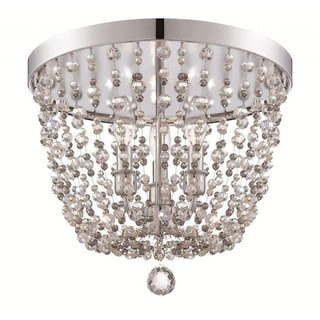 Crystorama Channing Collection 3-light Polished Chrome Flush Mount