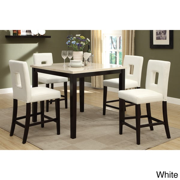Sconi Bicast Leather Counter Height Stool Set of 4