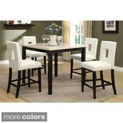 Sconi Bicast Leather Counter Height Stool (Set of 4)