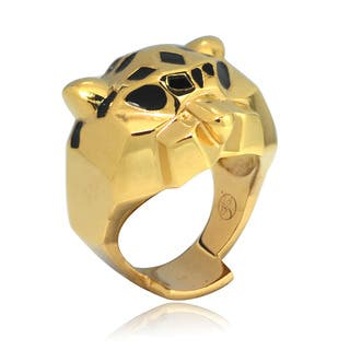 De Buman 14k Gold Overlay Leopard Enamel Ring|https://ak1.ostkcdn.com/images/products/8104032/8104032/De-Buman-14k-Gold-Overlay-Leopard-Enamel-Ring-P15453760.jpg?impolicy=medium