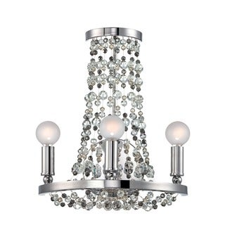 Crystorama Channing Collection 3-light Polished Chrome Wall Sconce