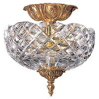 Crystorama Richmond 2-Light Olde Brass Flush Mount