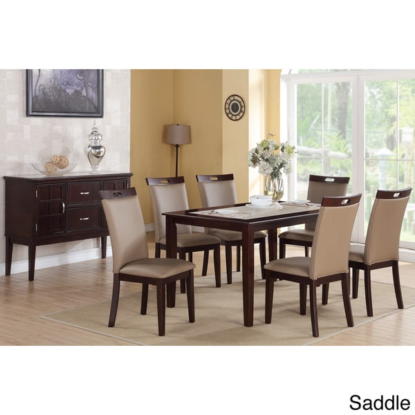 Rosi Bicast Leather Dining Chairs (Set of 6)