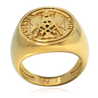 De Buman 14k Gold Overlay Mometo Mori Ring (Option: 9.5)