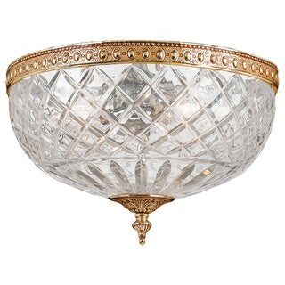 Crystorama Richmond Collection 2-light Olde Brass Flush Mount
