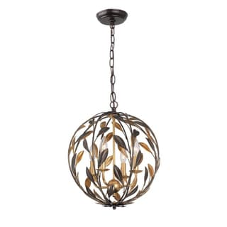 Crystorama Broche Collection 4-light English Bronze Pendant