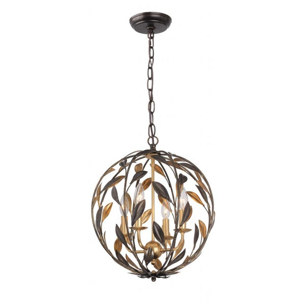 Crystorama Broche Collection 4 Light English Bronze Pendant Free Shipping Today Overstock