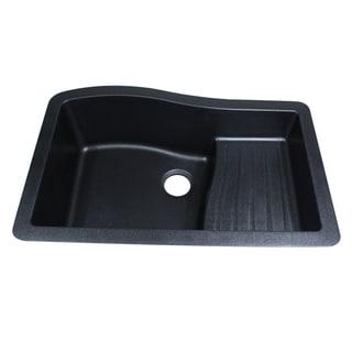 Granite Composite Black 33 Inch Undermount Kitchen Sink