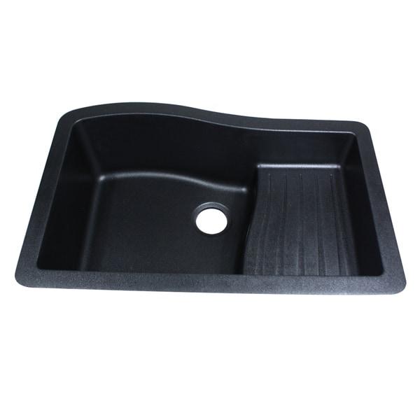 Granite Composite Black 33-inch Undermount Kitchen Sink