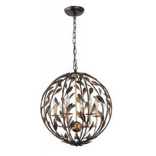 Crystorama Broche Collection 6-Light English Bronze Pendant