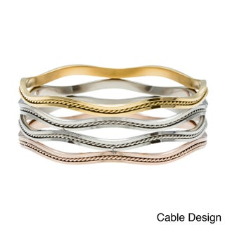 La Preciosa Tri-color Stainless Steel Bangle (2 options available)