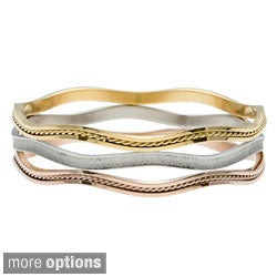 La Preciosa Tri-color Stainless Steel Bangle
