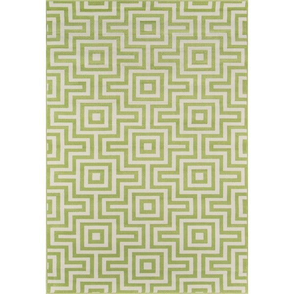 """Momeni Baja Retro Green Indoor/Outdoor Area Rug (2'3 x 4'6) - 2'3"""" x 4'6"""""""