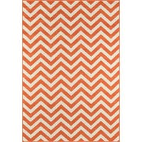 "Momeni Baja Chevron Orange Indoor/Outdoor Area Rug - 5'3"" x 7'6"""
