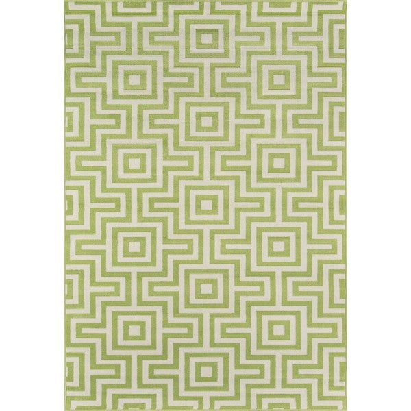 Momeni Baja Retro Green Indoor/Outdoor Area Rug (8'6 x 13')