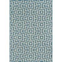 "Momeni Baja Retro Indoor/Outdoor Area Rug 6'7 X 9'6"" - 6'7"" x 9'6"""