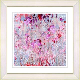 Studio Works Modern 'Outside My Window - Red' Framed Art Print