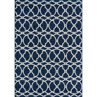 "Momeni Baja Moroccan Tile Navy Indoor/Outdoor Area Rug (2'3 x 4'6) - 2'3"" x 4'6"""