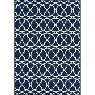 Momeni Baja Moroccan Tile Navy Indoor/Outdoor Area Rug (1'8 x 3'7)