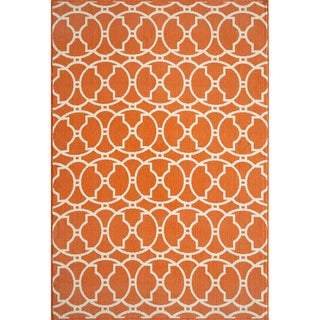 Moroccan Tile Orange Indoor/ Outdoor Rug (2'3 x 4'6)