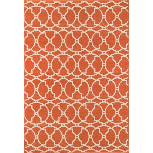 "Momeni Baja Moroccan Tile Orange Indoor/Outdoor Area Rug (2'3 x 4'6) - 2'3"" x 4'6"""