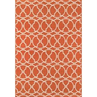 Moroccan Tile Orange Indoor/ Outdoor Rug (2'3 x 4'6)
