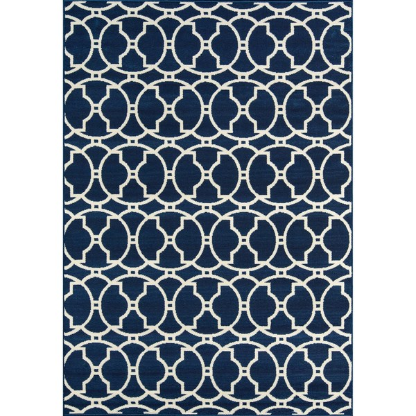 Momeni Baja Moroccan Tile Navy Indoor/Outdoor Area Rug (7'10 x 10'10)