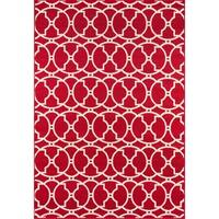 "Momeni Moroccan Tile Red  Indoor/ Outdoor Rug 8'6"" X 13'"