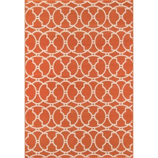 Moroccan Tile Orange Indoor/ Outdoor Rug (1'8 x 3'7)