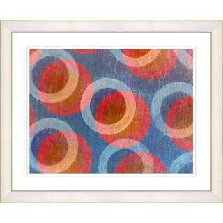 Zhee Singer 'Circle Series - Americana' White Framed Art Print
