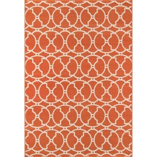 Momeni Baja Moroccan Tile Orange Indoor/Outdoor Area Rug (7'10 x 10'10)
