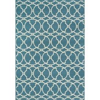 "Momeni Baja Moroccan Tile Blue Indoor/Outdoor Area Rug - 8'6"" x 13'"
