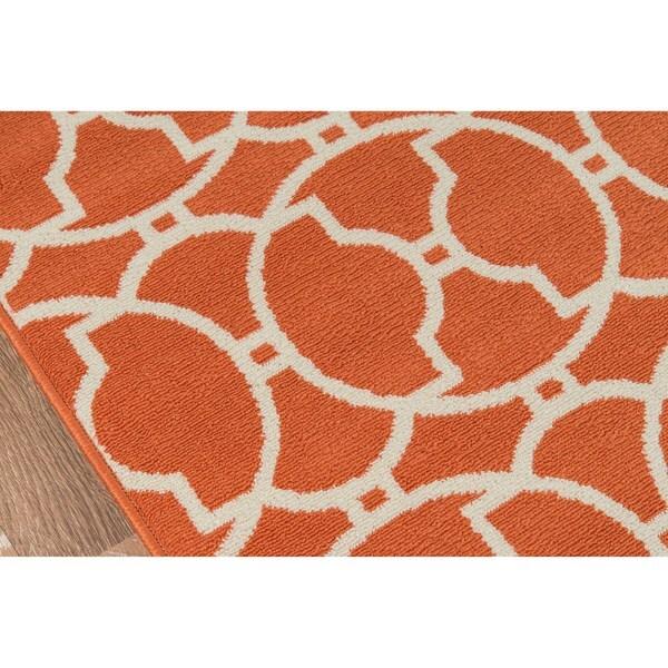 Momeni Baja Moroccan Tile Orange Indoor/Outdoor Area Rug (6u00277 X 9u00276)   Free  Shipping Today   Overstock.com   15453943