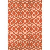 "Momeni Baja Moroccan Tile Orange Indoor/Outdoor Area Rug - 5'3"" x 7'6"""