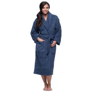 Salbakos Ultra-Thick Turkish Cotton Shawl Collar Navy Blue Unisex Bath Robe|https://ak1.ostkcdn.com/images/products/8104357/P15453986.jpg?impolicy=medium