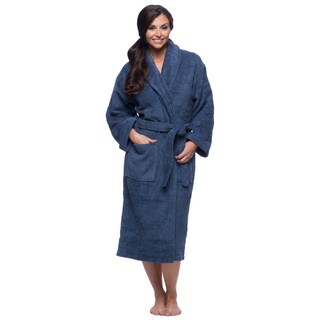 Classic Turkish Towel Thick Luxurious Cotton Shawl Collar Bathrobe