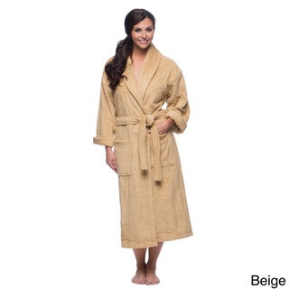 Salbakos Turkish Cotton Shawl Collar Ultra Thick Unisex Terry Bath Robe