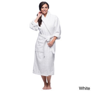 Salbakos Ultra-Thick Turkish Cotton Shawl Collar Navy Blue Unisex Bath Robe