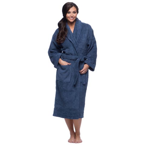 Classic Turkish Cotton Thick Luxurious Shawl Collar Bathrobe