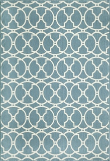 Moroccan Tile Blue Indoor/ Outdoor Rug (3'11 x 5'7)