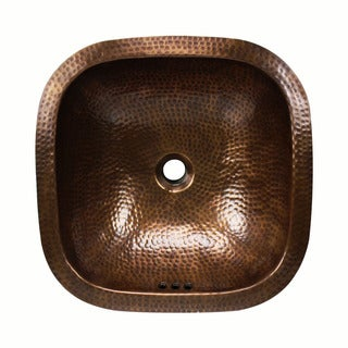 Link to 16-inch Square Artisan Hand-hammered Copper Bathroom Sink Similar Items in Sinks