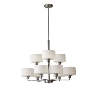 Kincaid 9-light Brushed Steel Chandelier