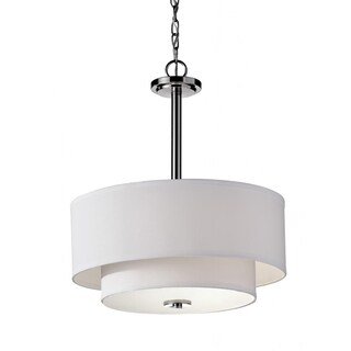Malibu 3-light Polished Nickle Chandelier