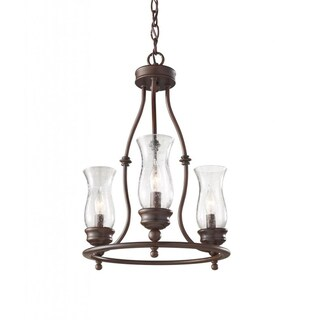 Pickering Lane 3-light Heritage Bronze Chandelier