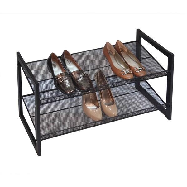Richards Homewares Metallic Bronze 2-tier Angled Stackable Shoe Rack