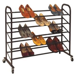 Richards Homewares Bronze Rolling 25-pair Shoe Rack