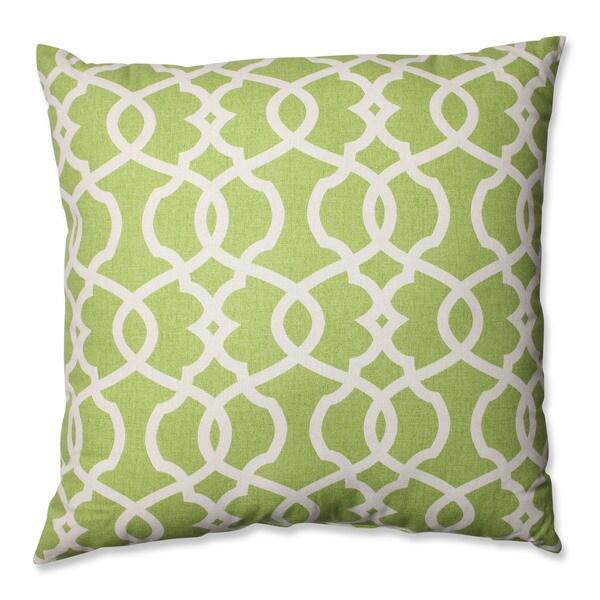 Pillow Perfect Lattice Damask Leaf 24.5-inch Decorative Pillow